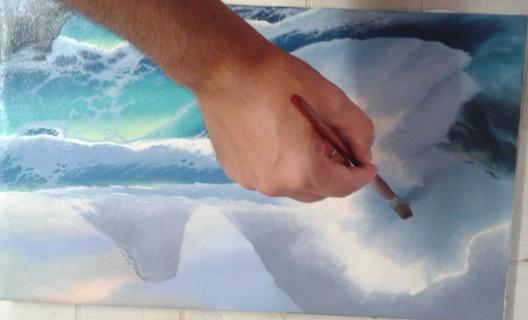 Verniciare un dipinto - seconda mano