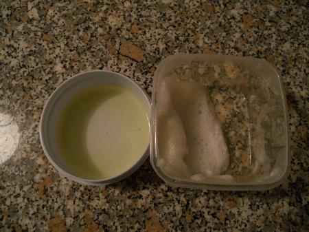 Vernice Provvisoria a base di bianco d'uovo - Schiuma