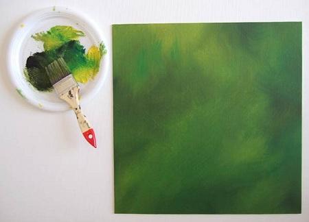 Dipingere una volpe ad acrilico - Sfondo