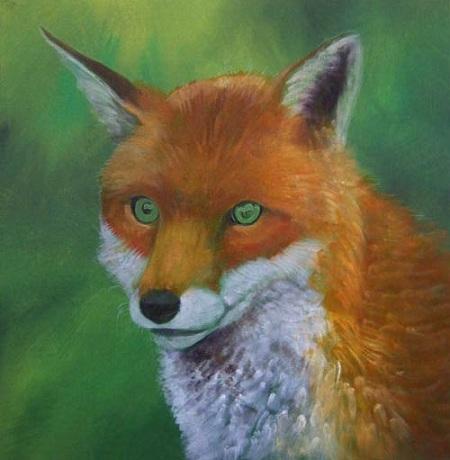 Dipingere una volpe ad acrilico - Chiari e scuri del manto