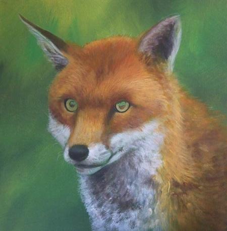 Dipingere una volpe ad acrilico - Velature del manto