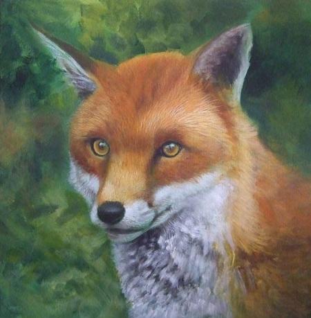 Dipingere una volpe ad acrilico - Petto