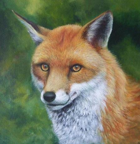Dipingere una volpe ad acrilico - Definizione pelo