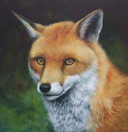 Dipingere una volpe ad acrilico - Ridefinizione dello sfondo